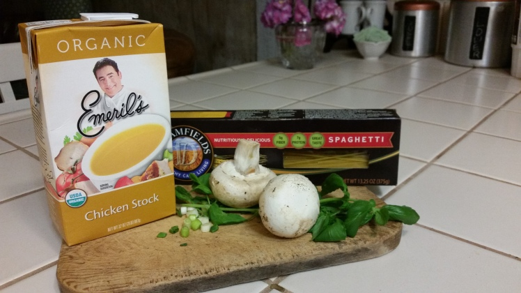 Chicken stock and noodles for Faux Pho (fa)